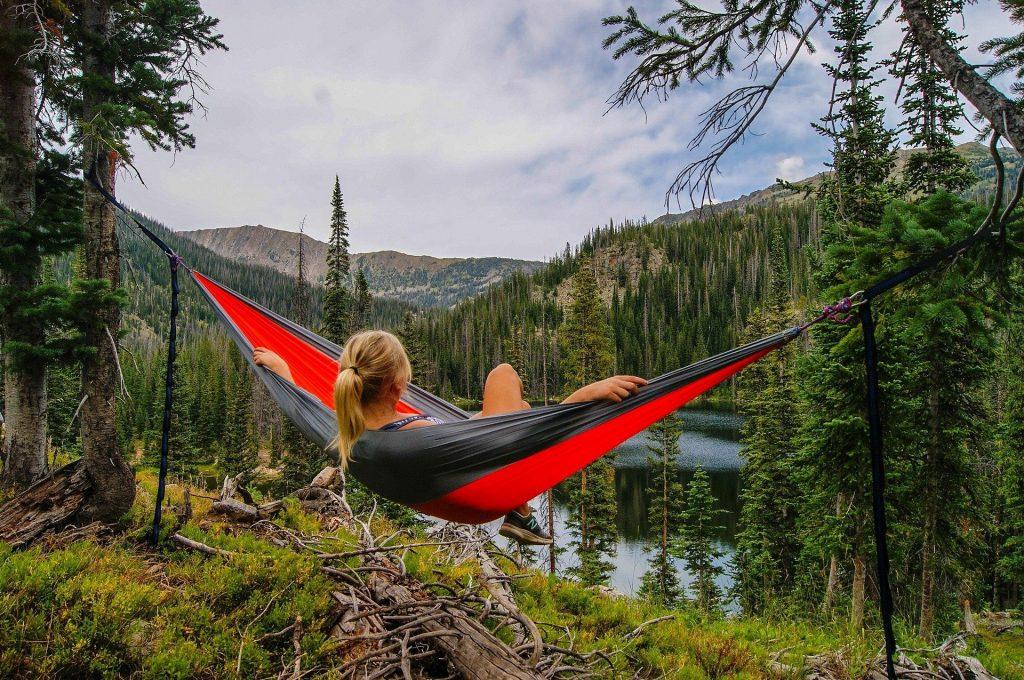 Je vertrouwt op de bomen als je in je hangmat ligt.